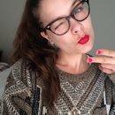 Russian red + minimal eye makeup