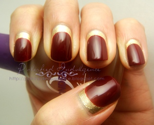Red and Gold Ruffian Manicure