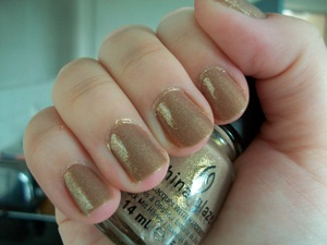 China Glaze Fast Track Nail Polish from the Hunger Games Capitol Colours Collection.  To read my review of the polish please visit my blog:  www.mazmakeup.blogspot.com