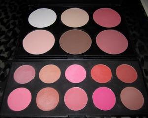 ♥ COASTAL SCENTS Blush & Contour palette and 10 piece blusher palette