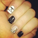 Chanel and bling nails