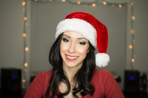 I used the silver and black/grey colors from my Vice 2 palette to create this holiday look!