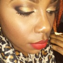 holiday eyes and red lips