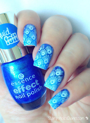 http://stampoholicsdiaries.com/2015/06/07/blue-seashell-nails-with-born-pretty-essence-kiko-and-misslyn/
