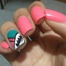 Pink nails:3333
