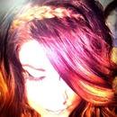 Purple ombré with hair braid