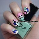 "Kate Spade ""Mondrian Bon Shopper"" Inspired Nails"