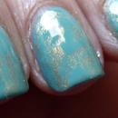 Turquoise Saran Wrap Manicure