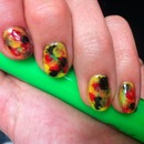 Rasta theme ~ Watercolour Nails