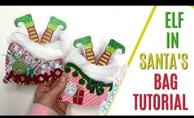Elf in Santa's Bag Tutorial, Christmas cards project share, 12 days of Christmas Day 11