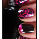 Hot Pink with Black Shatter