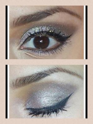 I did this smokey eye for a wedding I attended...naked palette, Mac glitter antique gold, physician formula eye boosting eye liner,bobbi brown intensifying long wear mascara, udpp