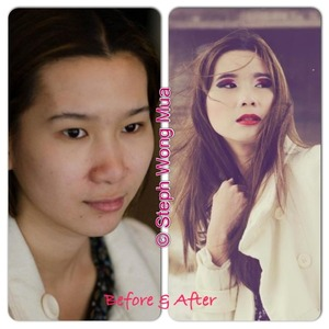 Before and After of model Marii