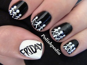 Who is waiting in line for deals this black friday?    Watch The Video Tutorial @ http://www.polishpedia.com/black-friday-nail-art.html