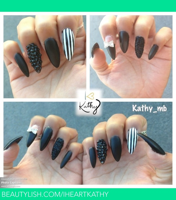 Black Matte Stiletto Nails Kathy B S Iheartkathy