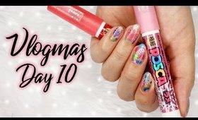Colorful Nail Art Using Pens   Vlogmas Day 10 ♡ #maximaCOMEPASS