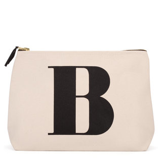 Natural Wash Bag Letter B