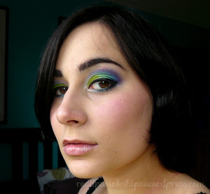 A colourful peacock-inspired look with the fabulous Sugarpill Heartbreaker palette!