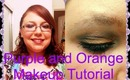 Fall Into My Fall Series #1 - Purple and Orange Makeup Tutorial