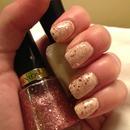Rose Gold Glitter Nails