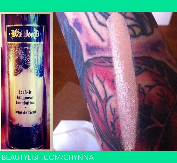 Kat von d lock it tattoo foundation chynna a 39 s chynna for Best tattoo cover up makeup