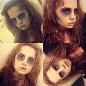 My first ever attempt at special FX there was way to many random things i used in this look to list! Will next time tho