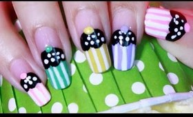 Cute & Easy CUPCAKE Nail Art Tutorial