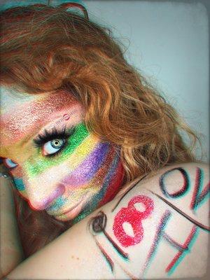 NO H8! http://theyeballqueen.blogspot.com/2016/09/glittering-rainbow-flag-no-h8-campaign.html