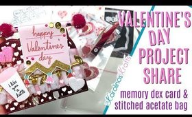 Valentines Day Project Share, Valentines Day embellishments & stitched acetate pouch packaging