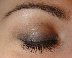 Dark lid neutral crease look