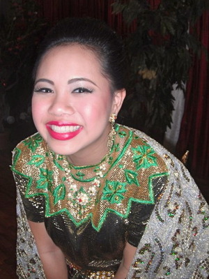 [ Stage makeup ii did for Thai dance performer - my sister<3 ]