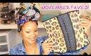 My New Beauty Faves!   November Favorites
