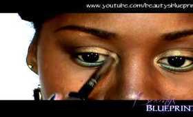 Coffee Brown Cosmetics: Gold n' Green
