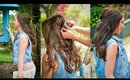 Hair Tutorial: Half-up Criss Cross Hairstyle