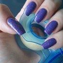 Purple nature nails