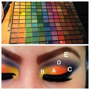 Step by step I use elf palette 😃