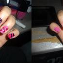 Random pink design