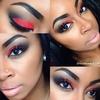 Fire Red Makeup!!