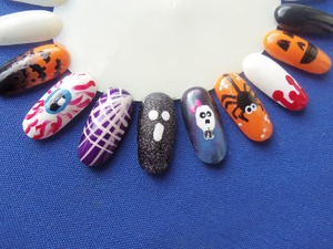 a few halloween nail designs from my nail wheel