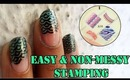 Easy and Non-Messy NailArt Stamping Tutorial