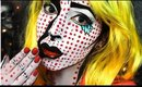 Pop Art Girl Halloween Makeup Tutorial