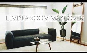 LIVING ROOM MAKEOVER 2019! MINIMAL & MODERN | Nastazsa