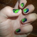 Green And Blue Horizon Nails