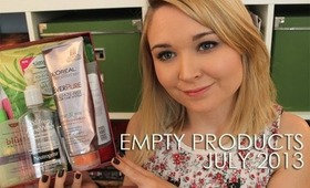 Empty Products: July 2013 | Madness and Musings