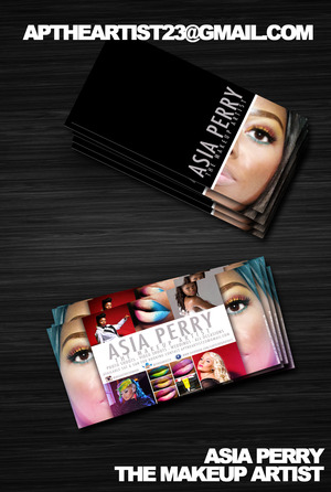 My MUA bus card and flyer design done by me! can't wait to print!