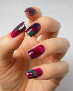 I used the 3 Zoyas from the Gloss Collection, Fall 2012. Blog post with more info and photos here: http://www.manicurator.com/2012/09/31dc-day-27-inspired-by-artwork-stained.html