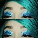 Blue Glitter Crown Eyshadow