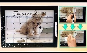 DIY dry erase calendar for the new year! Easy & customizable