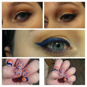 My super bowl makeup and nails