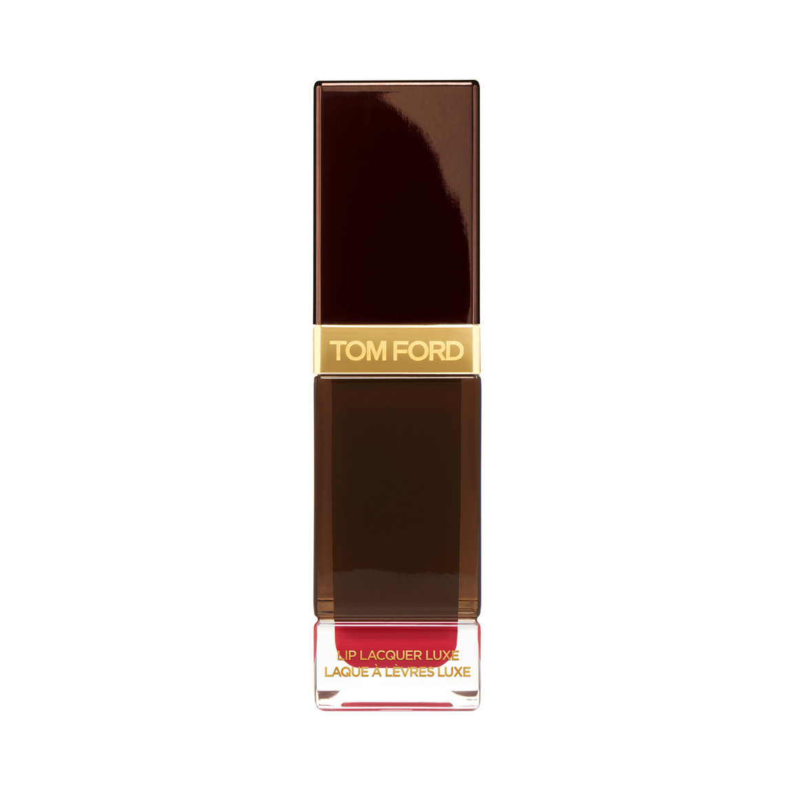 TOM FORD Lip Lacquer Luxe Matte Overpower product smear.
